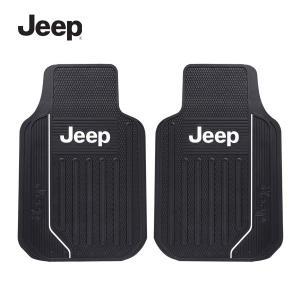 JEEPフロント用カーマット ラバー素材 車のラバーマットフロント2枚ワンセット オートフロア ジープグッズ 汎用|aicamu