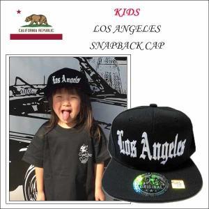 キッズ #47ロサンゼルススナップバックキャップ 子どもサイズ 子供用帽子 LOSANGELES|aicamu