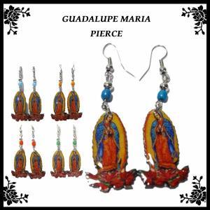 グアダルーペ マリア ピアス (エレガントマリア様)全5色 メキシコ グッズ アクセサリー MARIA|aicamu