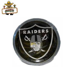 オークランド レイダース ペーパープレート(紙皿48枚入り) アメリカ直輸入 バースデーパーティーテーブルウェア NFL RAIDERS|aicamu