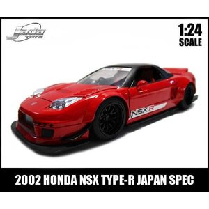 ミニカー 1/24 2002 HONDA NSX TYPE-R JAPAN SPEC-WIDEBODY- レッド ホンダ|aicamu