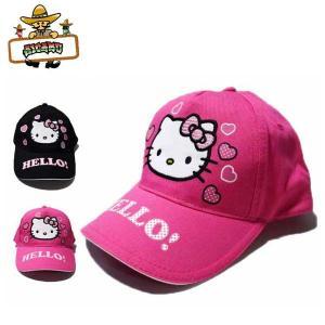ハローキティ キッズテープバックキャップ(サイズフリー) HELLO KITTYグッズ 子供用帽子 女の子|aicamu