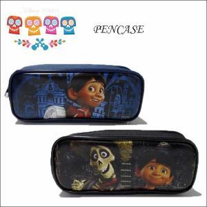ディズニー リメンバーミー ペンケース(ブラック/ネイビー全2色) カラベラ COCO 筆箱 ポーチ ネコポス発送可能|aicamu
