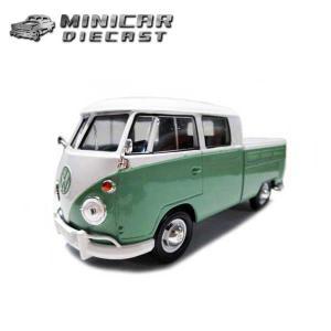 1/24 ミニカー Volkswagen Type2(T1)Pickup(ライトグリーン) フォルクスワーゲン ピックアップ MOTORMAX|aicamu