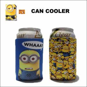 ミニオン グッズ 缶クーラー ビール 缶 保温 保冷 minions ネコポス発送可能 aicamu