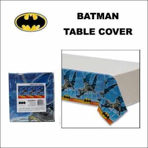 バットマン ビニール テーブルクロス 137cm×243cm パーティー BATMAN グッズ テーブルカバー ネコポス発送可能|aicamu
