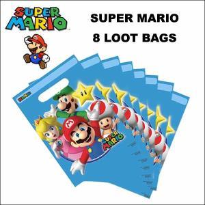 スーパーマリオ グッズ #01 パーティー ルートバッグ(ブルー)8枚入りグッディバッグ ネコポス発送可能|aicamu