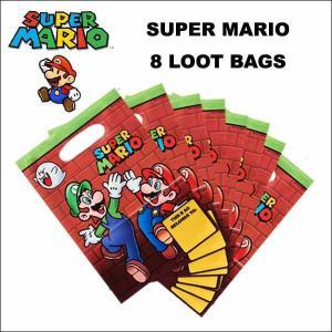 スーパーマリオ グッズ #02パーティールートバッグ(ハイタッチ)8枚入りグッディバッグ ネコポス発送可能|aicamu