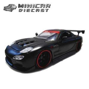 1/24 箱入り ミニカー 1993 MAZDA RX-7(マットブラック) マツダ JadaToys|aicamu
