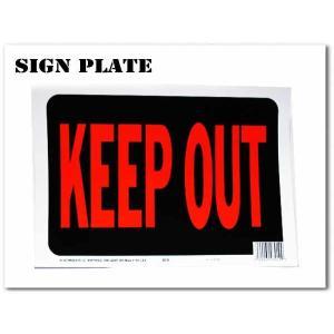 サインプレート KEEP OUT ブラック(立ち入り禁止) アメリカン ボード ネコポス発送可能|aicamu