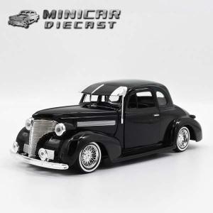 1/24 箱入り ダイキャスト ミニカー 1939 CHEVROLET COUPE ブラック シボレー クーペ|aicamu