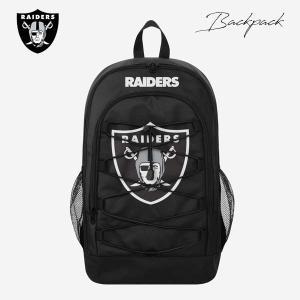 レイダース バックパック(ラウンドポケット/ブラック・ホワイトライン) NFL RAIDERS リュックサック aicamu