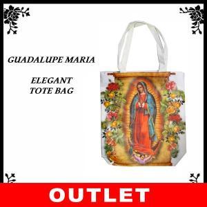 アウトレット品 グアダルーペマリア エレガントトートバッグ(ホワイト) メキシコ雑貨 かばん 鞄|aicamu