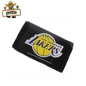 レイカーズナイロン財布 アメリカ直輸入 ウォレットNBALos Angeles Lakers グッズ 三つ折り ネコポス発送可|aicamu