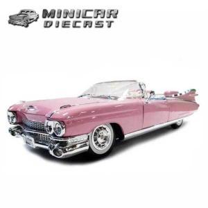 1/18 箱入 ミニカー 1959 CADILLAC ELDORADO BIARRITZ(ピンク)59年キャデラックエルドラードビアリッツ|aicamu