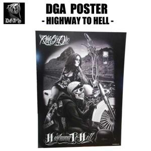 DGAポスター(Highway to Hell)60cm×45cm アメリカ直輸入 DavidGonzalesArt Ride or Die IMPALA チカーノ ローライダー  インテリア雑貨|aicamu