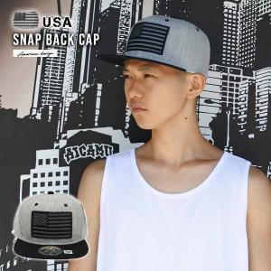 #58 アメリカンスナップバックキャップ(グレー/ブラック星条旗)アメリカ直輸入大人サイズ カリフォルニア ローライダー 帽子AMERICA aicamu