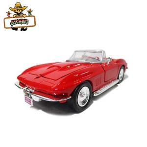 ミニカー 1/24 箱入り 1967 CORVETTE(レッド) 1967年 シボレー コルベット CHEVOLET アメ車 MOTOR MAX|aicamu
