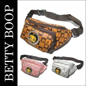 ベティ ブープ フェイクレザーウエストバッグ(全3色)ベティちゃん BETTY BOOP ウエストポーチ メッセンジャーバッグ|aicamu