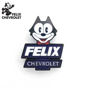ピンバッジ FELIX CHEVROLET (FELIXフェイス)フィリックス シボレー PINS 服に帽子にバッグにも ネコポス発送可能|aicamu