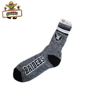 レイダース クルーソックス(グレー)アメリカ直輸入オシャレな大人用靴下 プレゼントに NFL OAKLAND RAIDERS ネコポス発送可能|aicamu