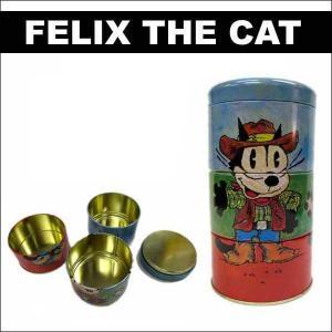 フィリックス マルチ三連缶ボックス フィリックス ザ キャット グッズ felixthecat 缶ケース|aicamu