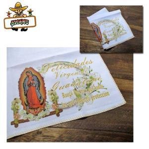 マリア様 ワンポイントハンカチ 雑貨 メキシコ MEXICO ネコポス発送可能|aicamu