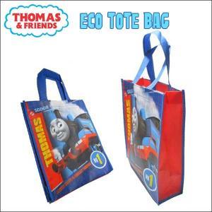 機関車トーマス エコトートバッグ 買い物や手提げかばんに エコバッグ 折り曲げてネコポス発送可能 thomas キッズ|aicamu