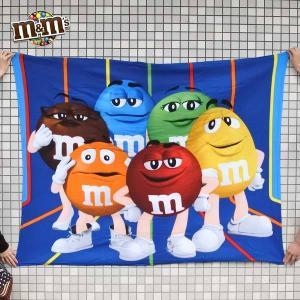 m&m's フリースブランケット (152.4cm×127cm) M&Ms グッズ ひざ掛け 毛布 寝具 アメリカ直輸入 公式ライセンス品|aicamu