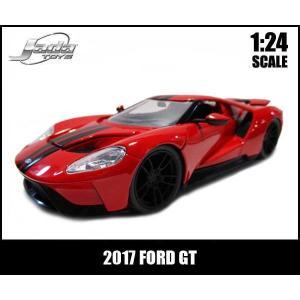 ミニカー 1/24  2017 FORD GT レッド ダイキャスト フォードGT アメ車 JadaToys aicamu