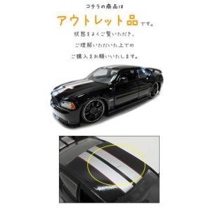 アウトレット品 ミニカー 1/24 2006 DODGE CHARGER SRT8 ブラックスポーク ブラック ダッジチャージャー アメ車|aicamu