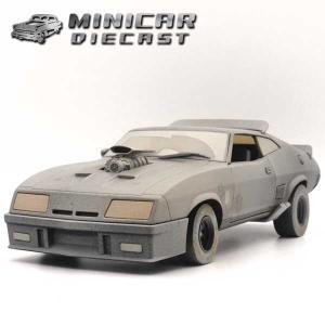ミニカー 1/18 マッドマックス V8インターセプター(ブラックパーシュートスペシャル) FORD FALCON MAD MAX ミニカー アメ車 GREENLIGHT|aicamu