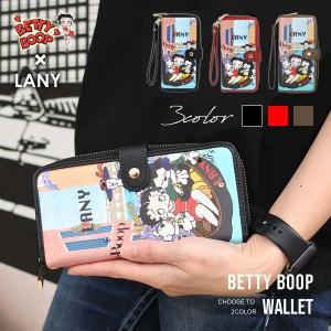ベティブープ フェイスエンブレム LOVE 3つ折り長財布(全3色)BETTY BOOP ベティちゃんグッズ ウォレット|aicamu