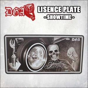 DGA ライセンスプレート(Showtime) アメ車 ローライダー インテリア ナンバープレート David Gonzales Artグッズ ネコポス発送可能|aicamu