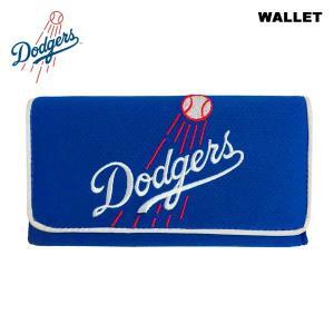 3つ折り 長財布 ロサンゼルス・ドジャース (チームウェア素材)MLB DODGERS グッズ メンズ ウォレット ユニフォーム素材 アメリカ直輸入|aicamu