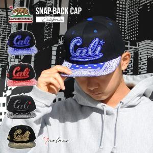 スナップバックキャップ #68 CALI(CALIペイズリー)全3色 大人サイズ オシャレな帽子アメリカ直輸入CALIFORNIA カリフォルニア雑貨 aicamu