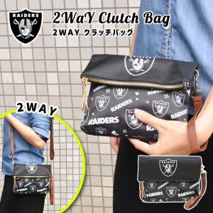 2wayクラッチバッグ オークランド・レイダース ショルダーバッグ クラッチ 鞄 NFL OAKLAND RAIDERS|aicamu