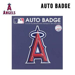 ロサンゼルス・エンゼルス エンブレムシール (レッド)Los Angeles Angels 貼るだけ!車に使える便利なカーアクセサリー TEAM EMBLEM ALUMINUM COLOR aicamu
