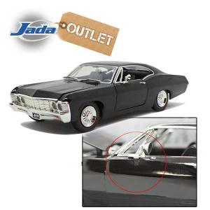 アウトレット品 ミニカー 1/24 箱入り 1967 CHEVY IMPALA クロームホイール (ブラック) ミニカー アメ車 シボレー シェビーインパラ ローライダー JADA TOYS|aicamu