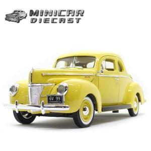 1/18 ミニカー 箱入り 1940 FORD DELUXE (イエロー) フォード デラックス ミニカー アメ車 MOTORMAX|aicamu