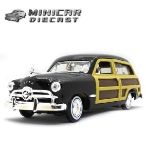 ミニカー 1/24 箱入り 1949 FORD WOODY WAGON (ブラック) ミニカー アメ車 フォード ウッディワゴン カントリースクワイア MOTORMAX|aicamu