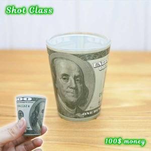 可愛くてオシャレな100ドル札プリントのショットグラスです。 テキーラをグイッとキメてください!  ...