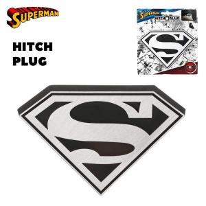 SUPERMAN ロゴ ヒッチカバー アメリカ直輸入ヒッチプラグ HITCH COVER HITCH PLUG スーパーマン S aicamu