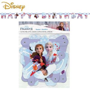 Disney アナと雪の女王2 バースデーバナーキット(1.82m)FROZEN ガーランド パーティー飾り アナ エルサ 誕生日 aicamu