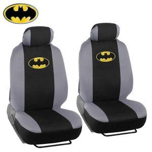 BATMAN シートカバー (4ピース2フロントセット) バットマン カーアクセサリー 汎用 内装 ...