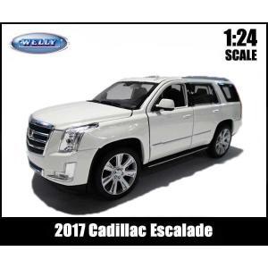 ミニカー 1/24-27 箱入り 2017 Cadillac Escalade (ホワイト) キャデ...