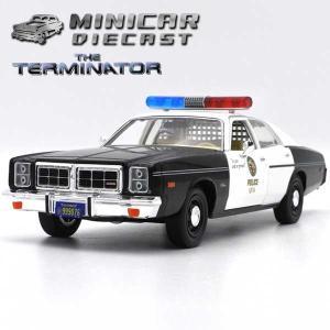 ミニカー 1/24 箱入り 1977 DODGE MONACO POLICE TERMINATOR仕...