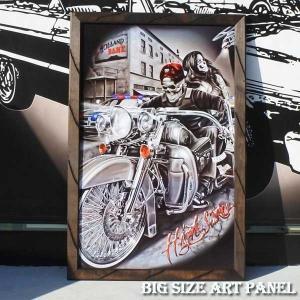ビッグサイズアートパネル ウッドフレーム(High Stakes/90×60cm) チカーノ メキシ...