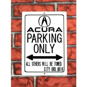 パーキングサイン【ACURA PARKING ONLY】(全2色 ブラック/レッド)アキュラパーキングボード★ネコポス発送可能★|aicamu