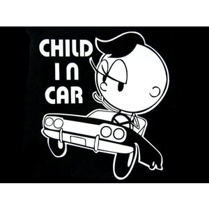 カッティングステッカー AICAMU BOY CHILD IN CAR (全2色) 車 バイク アメリカン チャイルドインカーセーフティー|aicamu
